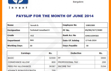 contract proposal template salary slip format in india