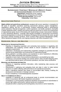 contract specialist resume program manager