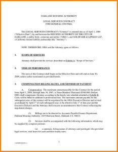 contract template for services contract for services rendered oakland housing authority legal services contract for general counsel this cb