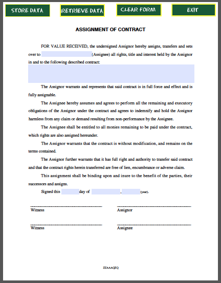 contractor agreement template