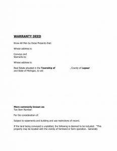 contractor agreement template warranty deed template