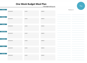 cookbook template free meal plan template www tinybudgetcooking com min