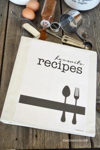 cookbook template free recipe book printables