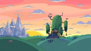cool halloween backgrounds adventure time house