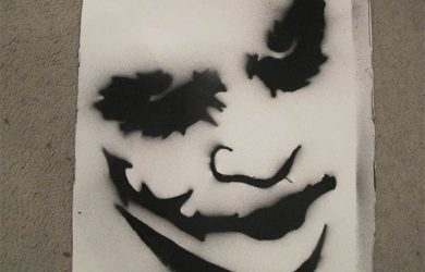 cool stencils for spray painting joker spray paint stencil