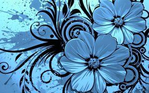 cool website templates blue floral