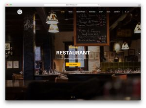 cool website templates resca restaurant wordpress theme