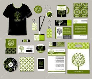 corporate identity package depositphotos stock illustration tree logo corporate identity templates