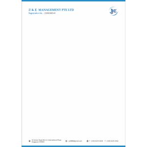 corporate identity package letterhead