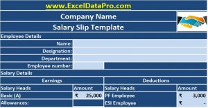 corporate minutes template salary slip template