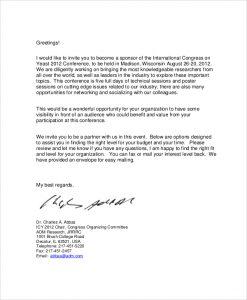 corporate sponsorship letter corporate event sponsorship agreement letter