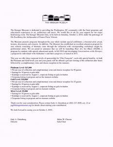 corporate sponsorship letter corporate sponsorship letter template
