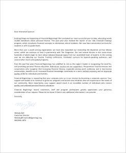 corporate sponsorship letter corporate sponsorship request letter