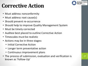 corrective action plan example audit report writing