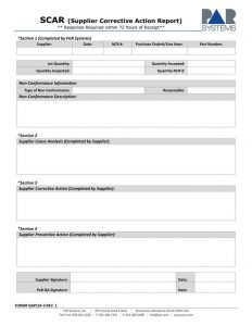 corrective action plan template supplier corrective action report template