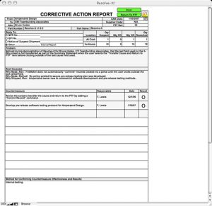 corrective action report resolveitcartop