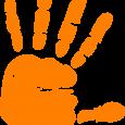 counseling intake form orange hand print volunteer