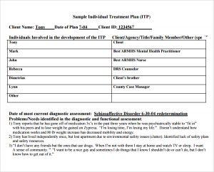 counseling treatment plan template pdf sample individual treatment plan