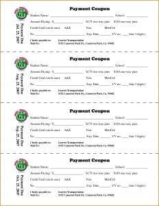 coupon book template payment coupon book template
