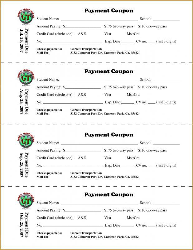 coupon book template