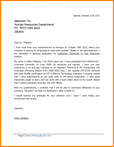 cover letter for college application application letter example for fresh graduate