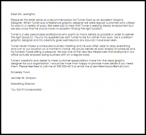 cover letter for graphic designer graphic designer recommendation letter