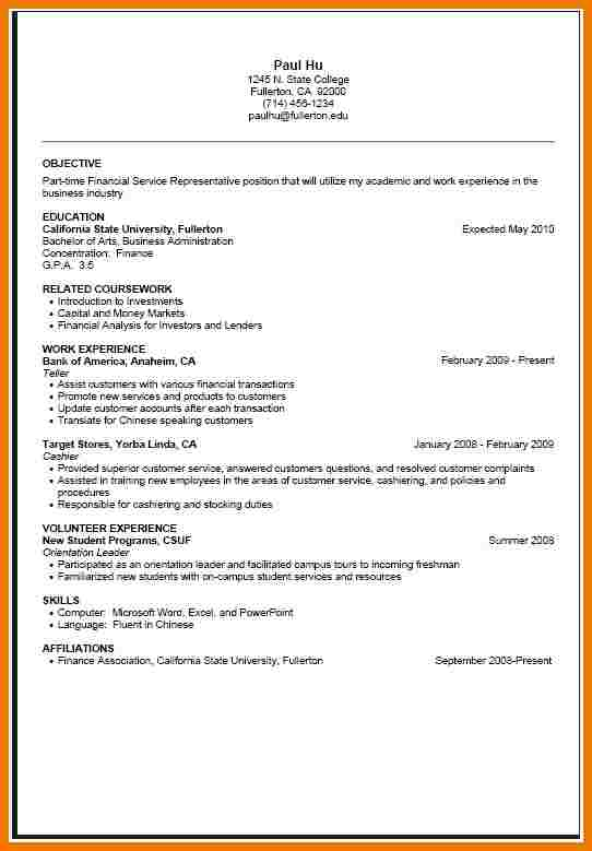 cover letter for part time job