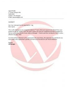 cover letter free template relieving letter format