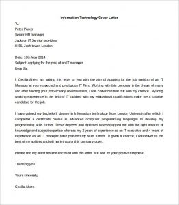 cover letter template free information technology cover letter template free word doc
