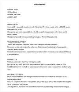 cover letter template free printable broadcast cover letter template free download
