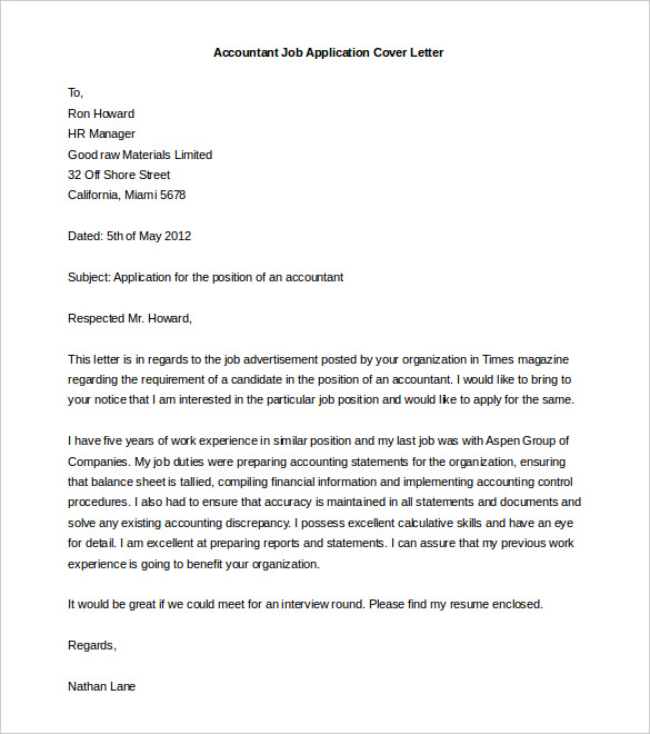 cover letter templates word