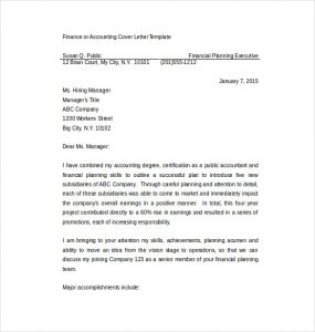 cover letter templates word professional cover letter for accounting job word format free download