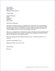 cover letter templates word resume cover letter template
