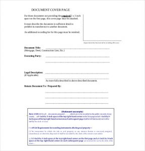 cover sheet format blank cover sheet pdf format download