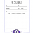 cover sheet format fax cover sheet sample