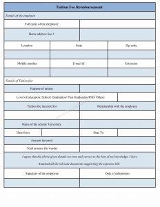 credit application form pdf tuition fee reimbursement form