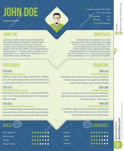 credit application template modern curriculum cv resume template design blue green color combo