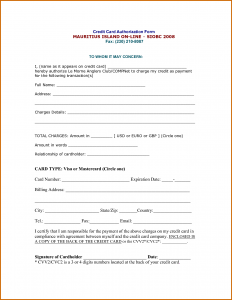 credit card authorization form pdf blank credit card authorization form pdf