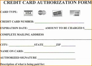 credit card authorization form template credit authorization form template automatic credit card payment in credit card authorization form template word