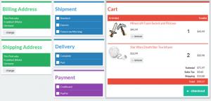 credit card design template flat checkout ui