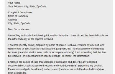 credit repair letters pdf idtheft