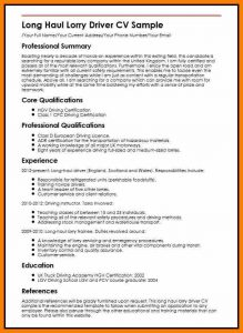 curriculum vitae template student driver cv format word long haul lorry driver cv sample