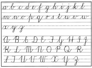 cursive writing template cursive handwritng chart lower upper