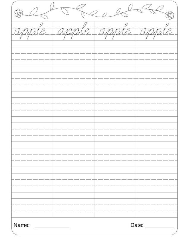 cursive writing worksheets pdf