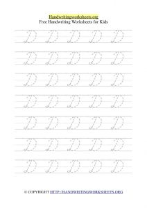 cursive writing worksheets pdf d writing cursive letters