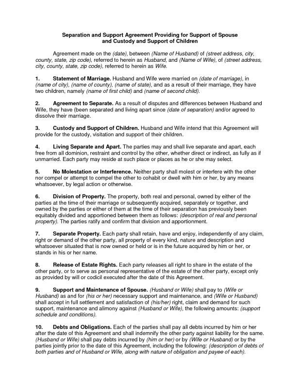 custody agreement template