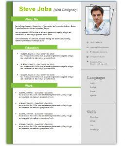 cv template download steve resume template word