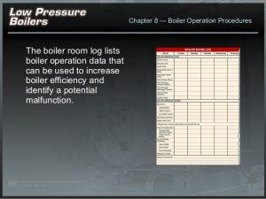 daily log sheet low pressure boiler startup procedure