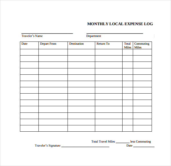 daily logs template