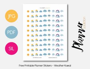 daily planner printable pdf weather kawaii presentation x